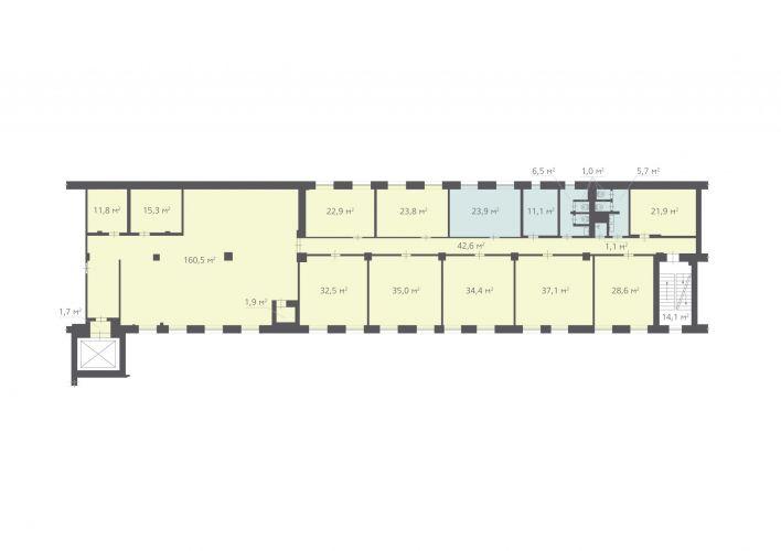 522 м², (2 поверх)