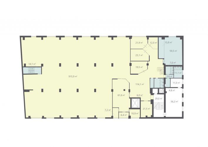 1342,2 м², (3 поверх)